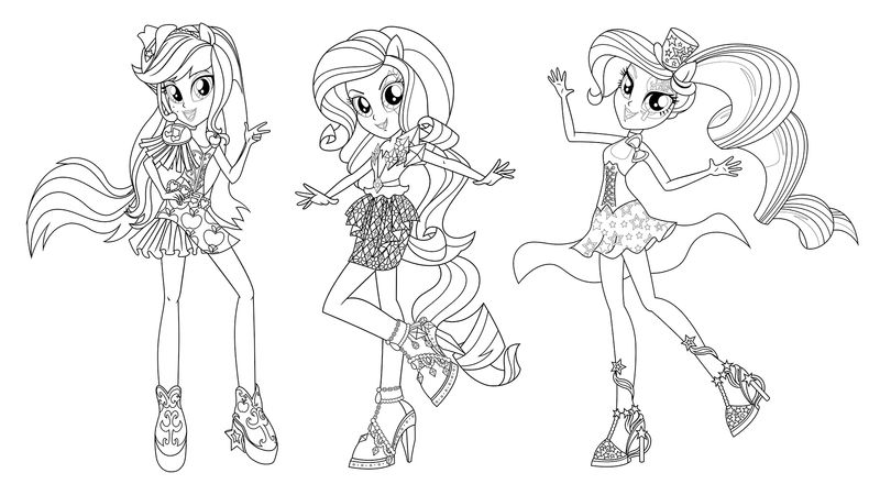Free My Little Pony Equestria Girls Coloring Pages