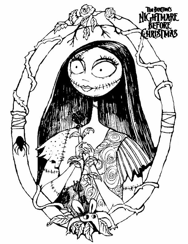 Free Nightmare Before Christmas Images To Color