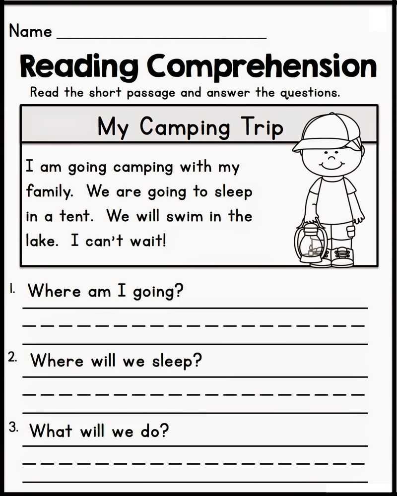 Free Online Worksheets Reading