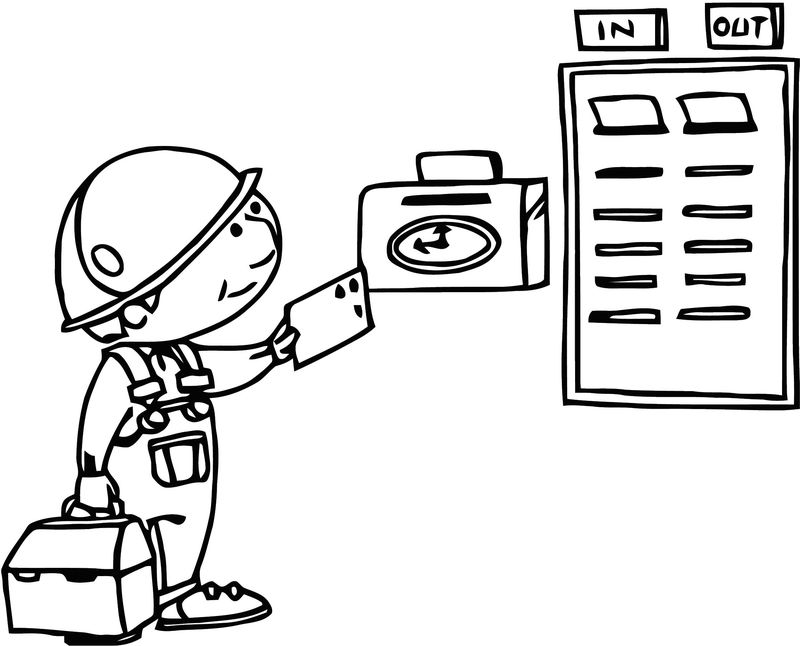 Free Payroll Time Clock Clipart Free Printable 1 Cartoonized Free Printable Coloring Page