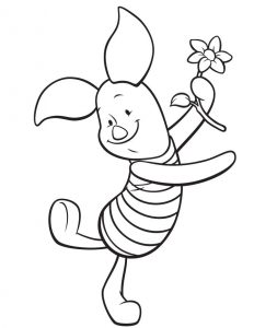 Free piglet coloring page