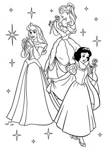 Free princess coloring pages disney 001