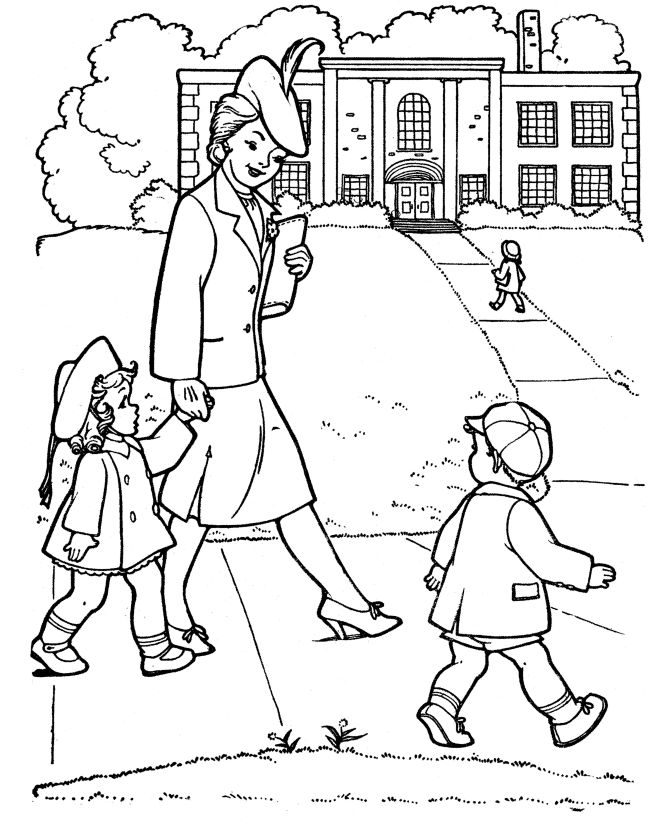 Free Printable Back To School Coloring Page 001