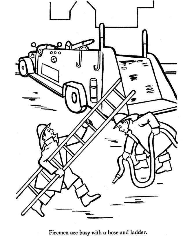 Free Printable Fire Truck Coloring Pages 001