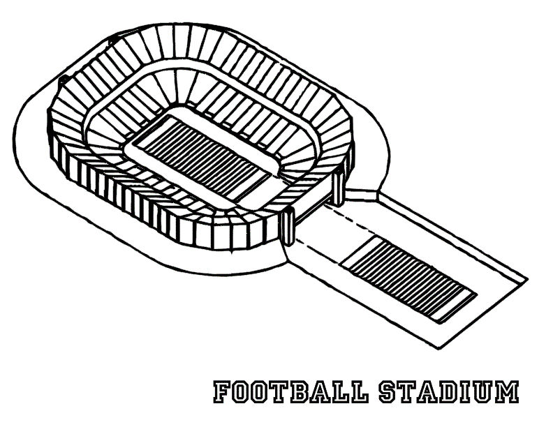 Free Printable Football Coloring Pages Stadium 001