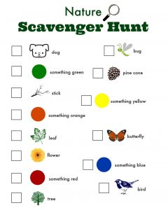 Free printable games for children scarevenger hunt
