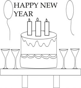 Free printable happy new years coloring page