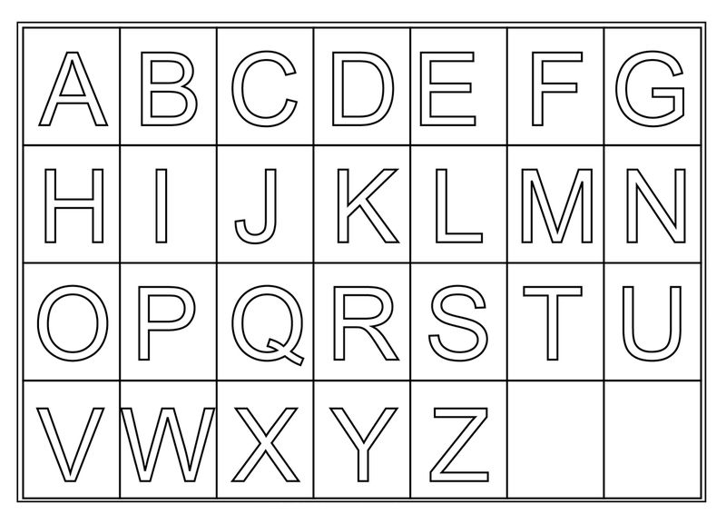 image about Printable Letters Az titled Free of charge Printable Letters A Z - Coloring Sheets