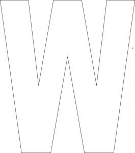 Free printable letters w 001