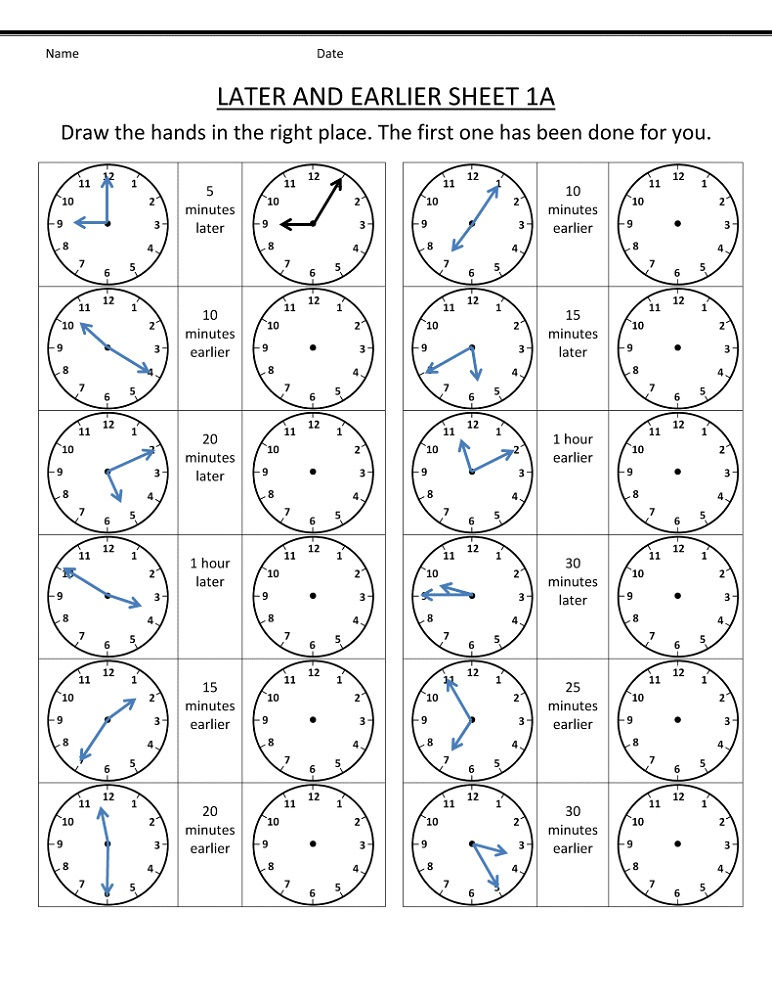Free Printable Maths Worksheets Ks2 Clock