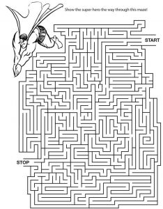 Free printable mazes for adults activity 001