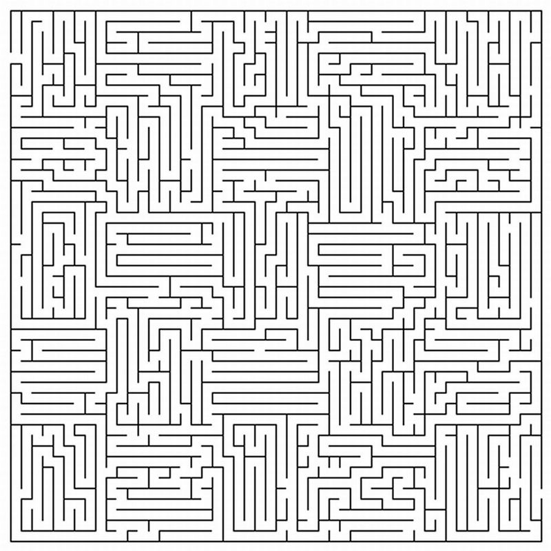 Free Printable Mazes For Adults Page 001