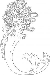 Free printable mermaid coloring page