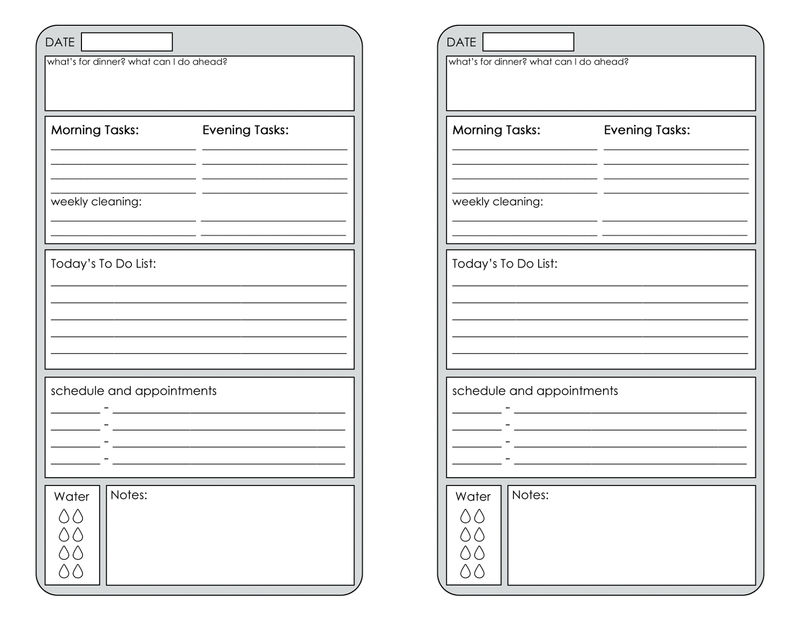 Free Printable Planner Pages Creative