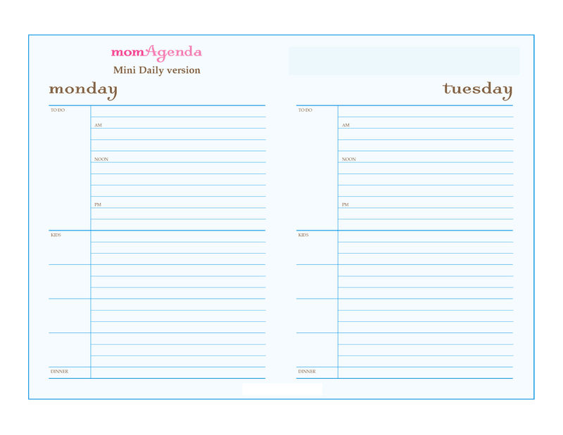Free Printable Planner Pages Monday And Tuesday