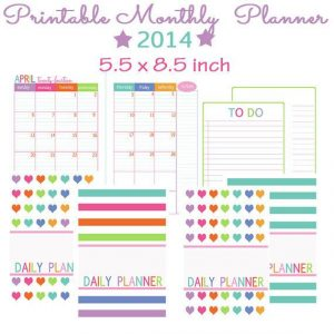 Free printable planner pages monthly