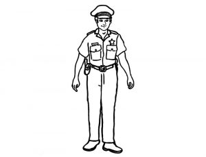Free printable policeman coloring pages