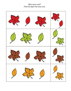 Free printable preschool worksheets autumn