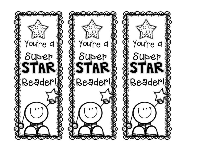 Free Printable Reading Bookmarks Black And White Image