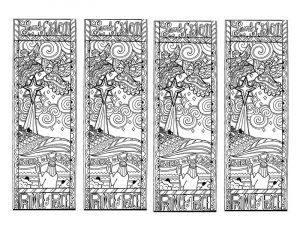 Free printable reading bookmarks black and white page