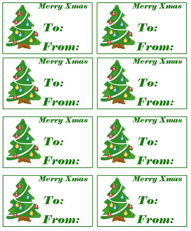 Free Printable Templates Christmas Cards 001
