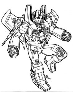 Free printable transformers coloring page