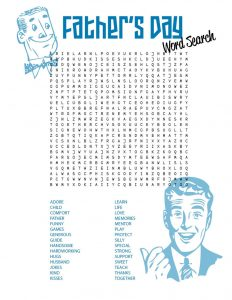 Free printable word searches fathers day