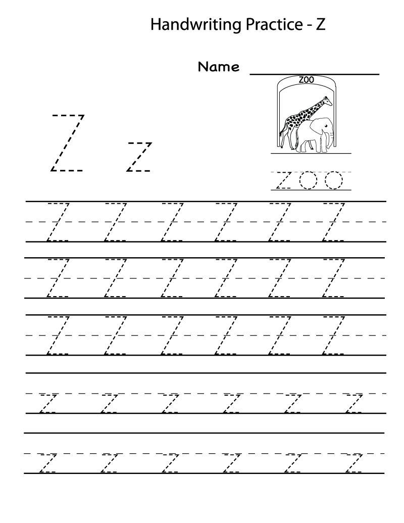 image about Letter Z Printable referred to as Free of charge Printable Worksheets For Preschoolers For The Letter Z