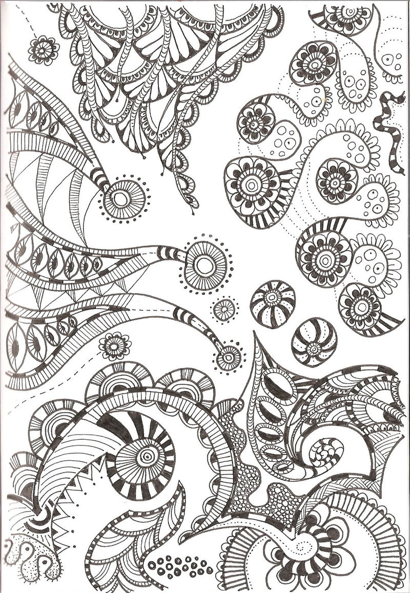 photograph relating to Printable Zentangles identify Free of charge Printable Zentangle Coloring Habits - Coloring Sheets