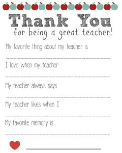 Free printables for teachers thank you