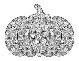Free pumpkin coloring pages for adults