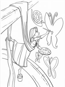 Free rapunzel coloring pages to print