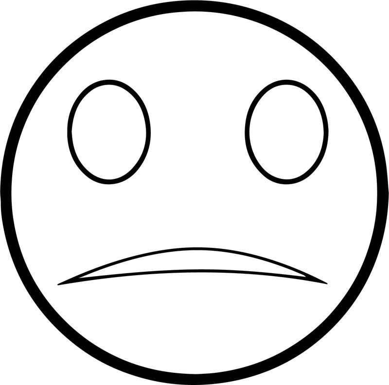 Free Sad Face Coloring Page