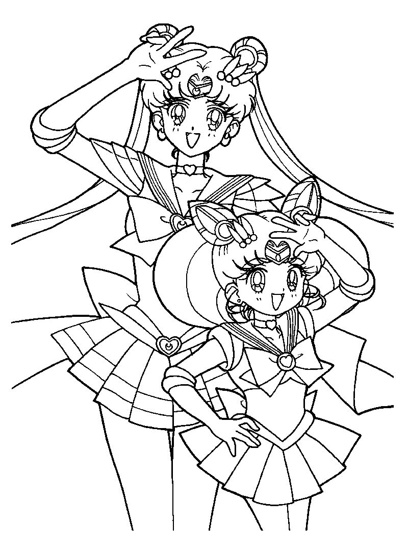 Free Sailor Moon Coloring Pages For Kids