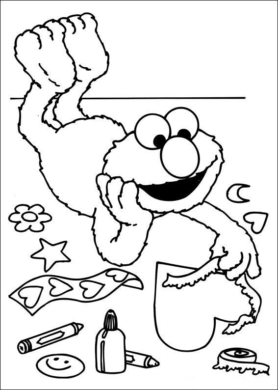 Free Sesame Street Coloring Pages 001