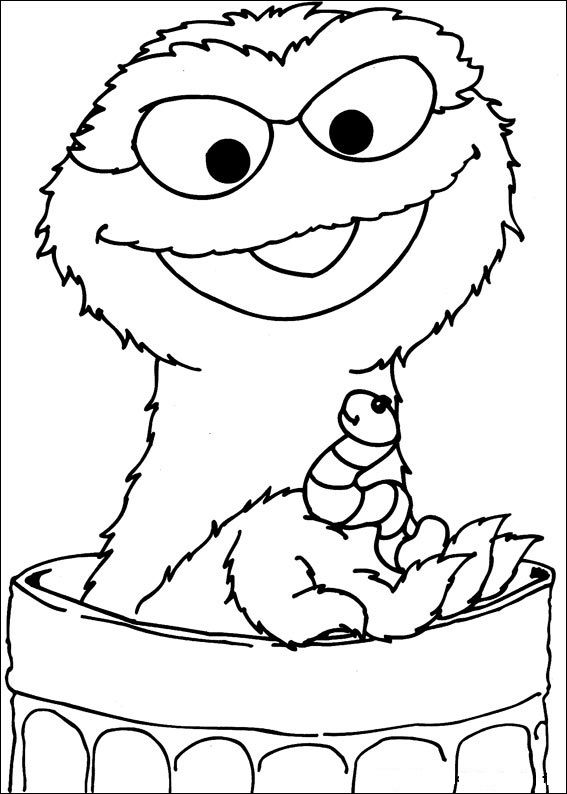 Free Sesame Street Coloring Pages Printable 001