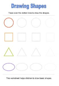 Free shape worksheets drawing