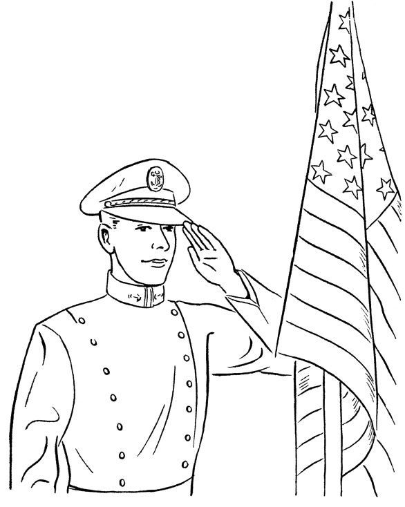 Free Soldier Memorial Day Coloring Pages