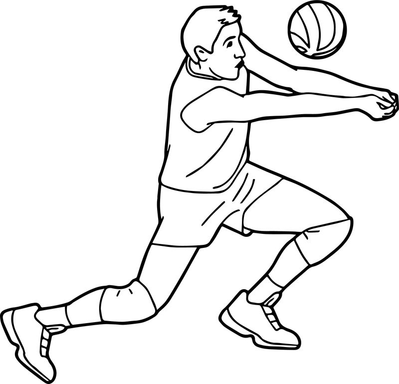 Free Sports Volleyball Pictures Graphics Coloring Page