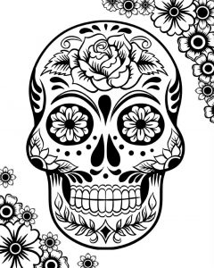 Free sugar skull coloring pages for adults copy