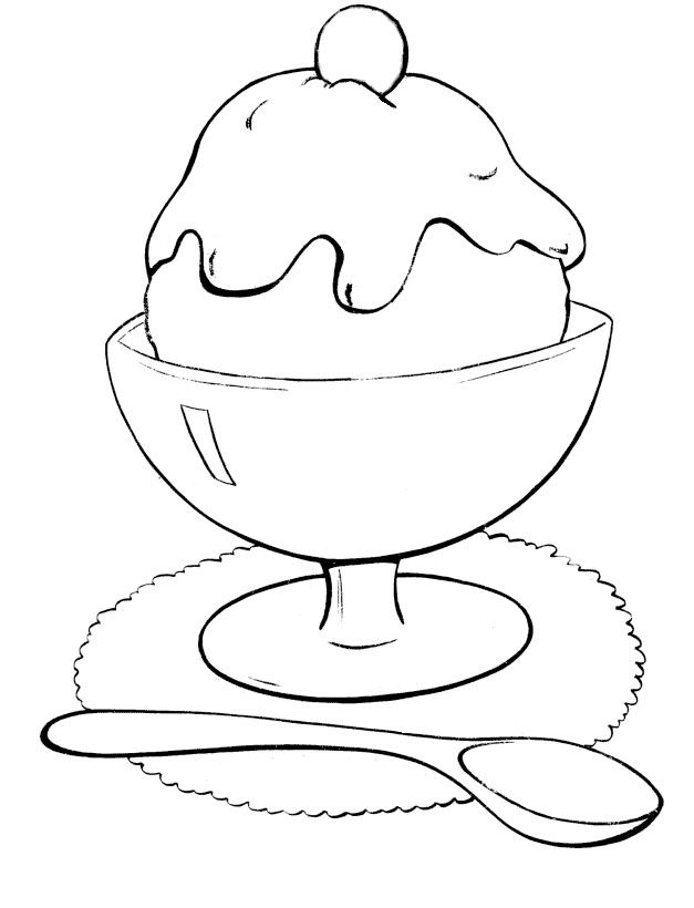 Free Sunday Ice Cream Coloring Pages 001