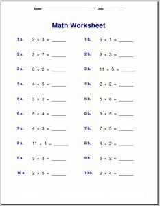 Free times table worksheets simple