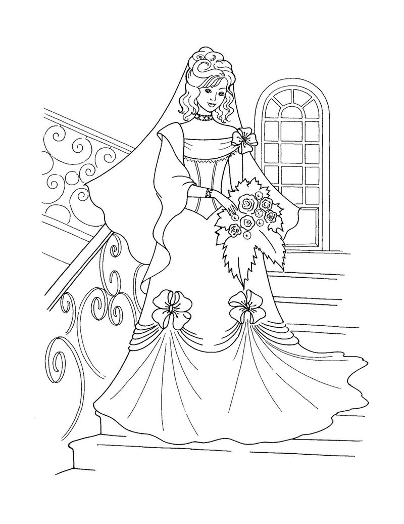 Free To Color Princess Coloring Pages 001