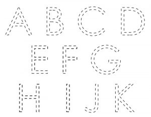 Free traceable alphabet worksheets letter