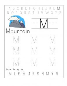 Free traceable worksheet mountain