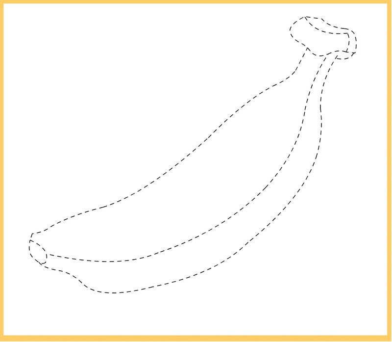 Free Traceable Worksheets Banana