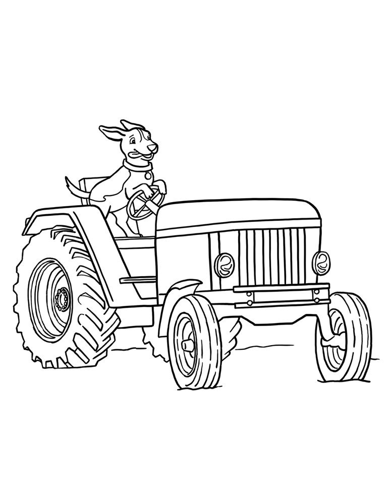 Free Tractor Coloring Pages For Kids 001