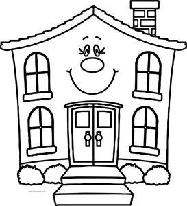 Free village free coloring page cartoon