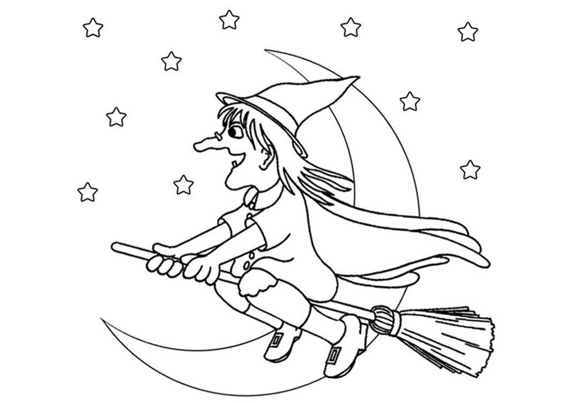 Free Witch Coloring Pages For Kids 001