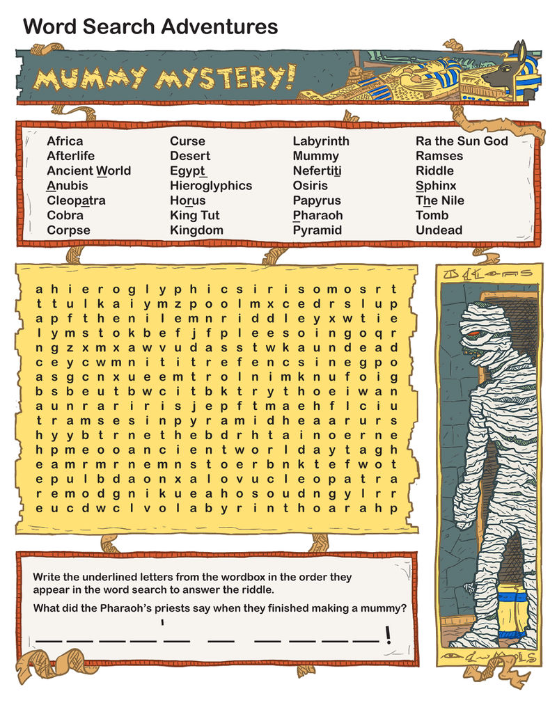 Free Word Search For Kids Mummy